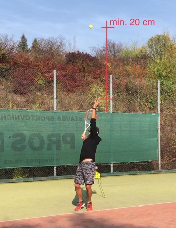 Nadhoz u tenisového podání
